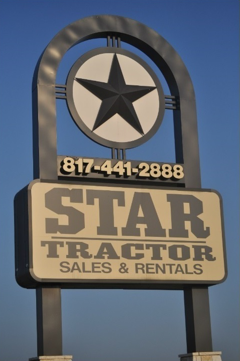 Welcome Sign at Star Tractor